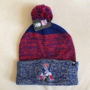 New England Patriots Vintage Logo Pom Pom hat